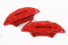 German AMG Mercedes-Benz A45 four-piston brake calipers