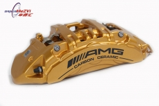 AMG Mercedes-Benz SLS Front Six Piston Brake Calipers Gold